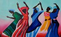 african women dancing